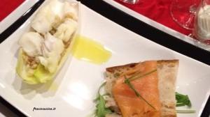Barchette di indivia panzanellate al baccalà