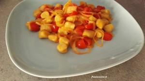Gnocchi di patate scalogno e pomodorini