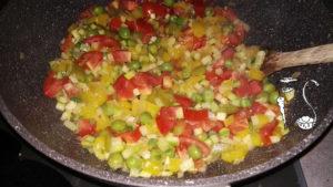 Quinoa alle verdure_pomodori