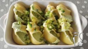 Lumaconi ripieni di ricotta e zucchine al forno_preparazione