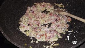 Pasta speck e zucchine_condimento