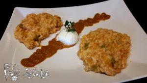 risotto peperoni e mozzarella