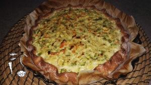 Torta salata senza glutine alle verdure_cottura