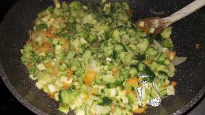 Torta salata senza glutine alle verdure_preparazione